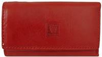 Ключница-кошелек с карабинами, кожаная Wanlima W72090230066-red