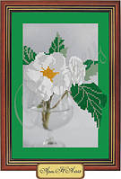 Схема для вышивки бисером «Чайная роза в бокале»