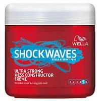 Wella shockwaves Ultra Strong Mess Constructor Creme - Крем для укладки волнистых волос