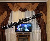 Ламбрекен  со шторами для зала