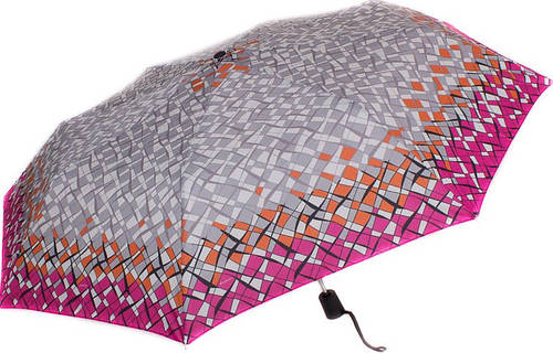 Модный женский зонт, полуавтомат DOPPLER (ДОППЛЕР) DOP730165G17-7 Антиветер!