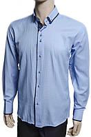 """Рубашка """"Pierre Martin"""". Голубая. Приталенная (длинный рукав)"""