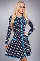 Молодежное женское платье в горошек