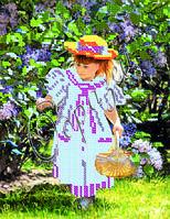Схема для вышивки бисером «Девочка с сиренью»