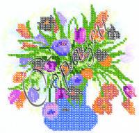 Схема для вышивки бисером «Букет тюльпанов»