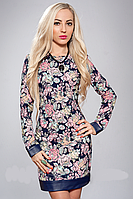 Женское платье в цветочек - новинка осени, р-ры 42,44
