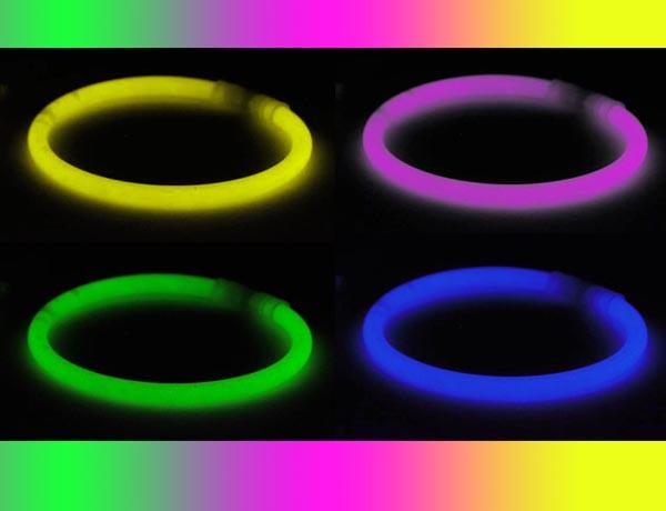 Светящиеся неоновые браслеты , 100 штук