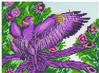 Схема для вышивки бисером «Птица»