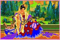 Схема для вышивки бисером «Китайская женщина»