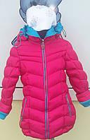 Куртка зимняя польская для девочки с яркими вставками