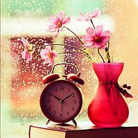 Картина для рисования камнями стразами Diamond painting Алмазная вышивка алмазами мозаика ваза часы iLife