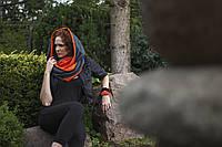 Женский шарф-шапка два в одном, женский стильний шарф-шапка ,шарф женский