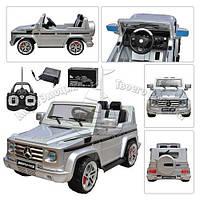 Детский электромобиль Джип Mercedes G 55 R-11 серебро