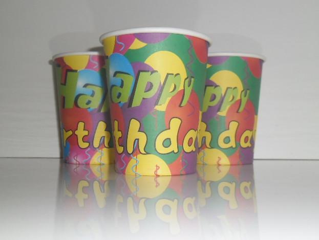 """Стаканчики одноразовые детские """"Шарики happy"""" 10 шт./уп. Посуда одноразовая детская"""