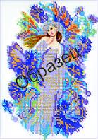 Схема для вышивки бисером «Васильковая фея»