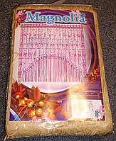 Готовая тюль – гардина для кухни «Магнолия Карамель»