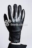 Мужские кожаные перчатки (манжет+2 закл+внеш рез.)