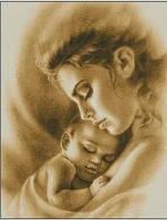 Картина для рисования камнями стразами Diamond painting Алмазная вышивка алмазам мозаика мать с ребенком iLife