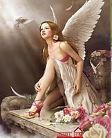 Картина для рисования камнями ангел стразами Diamond painting Алмазная вышивка алмазами мозаика iLife