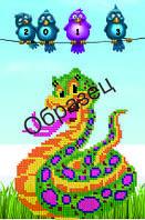 """Схема для вышивки бисером """"С новым 2013 г. змеи"""""""