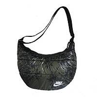 Дутая спортивная сумка женская, средняя Хаки-камуфляжная