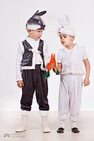 """Новогодние костюмы для детей """"Зайчики"""" (серый и белый)"""