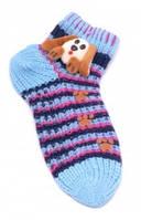 Женские носки тапочки с аппликацией
