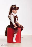 """Новогодний костюм для детей """"Лошадка"""" (коричневая)"""