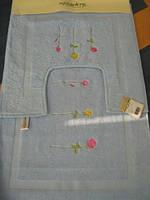 Набор ковриков для ванной комнаты Emily.2 пр.голубой,жёлтый