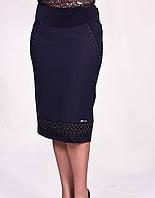 Модная женская юбка большого размера с красивым оформлением низа, фото 1