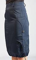 Катоновая модная юбка с карманами недорого, фото 1