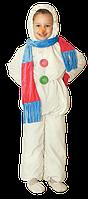 Детский карнавальный костюм Снеговика Код 125