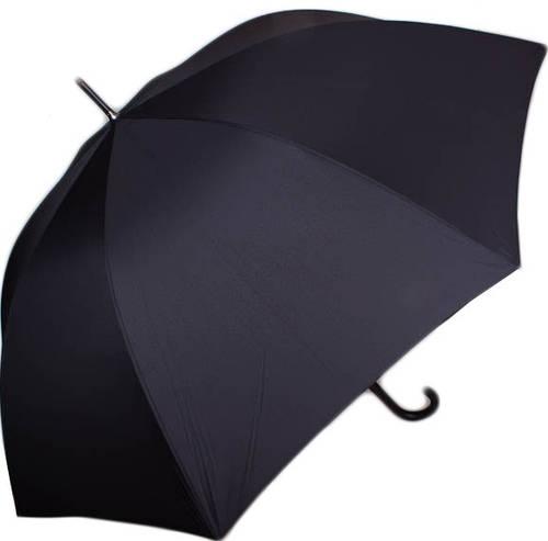 Однотонный мужской зонт-трость полуавтомат с большим куполом DOPPLER (ДОППЛЕР) DOP71666