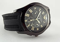 Мужские часы Emporio Armani ceramic цвет корпуса антрацит, черный циферблат