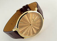 Мужские часы Vacheron Constantin кварцевые, цвет корпуса gold, золотистый циферблат