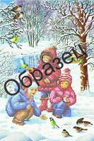Схема для вышивки бисером «Зима_Дети»