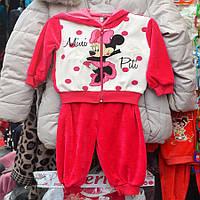 Нарядный костюмчик для девочек 3-4 года, двойка  - Микки