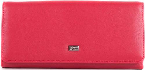 Красный кошелек из натуральной кожи WANLIMA (ВАНЛИМА) W50044076-red