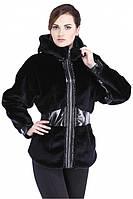 Купить стильную женскую шубку с капюшоном, фото 1