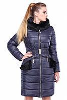 Стильное женское пальто с мехом, фото 1