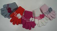 Перчатки для девочки с бантиком