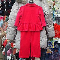 Нарядный костюмчик для девочек на 1 годик, двойка  - вишеньки