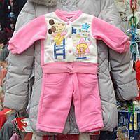 Нарядный костюмчик для девочек от 1 до 3 лет, двойка  - собачка