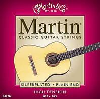 Струны для акустики Martin M120 Silverplated Plain Ends Classical Acoustic Guitar Strings 28-43