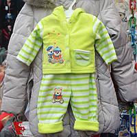 Нарядный костюмчик для девочек от 0.5 до 2 лет, тройка  - три мишки