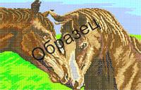 """Схема для вышивки бисером  """"Пара лошадей"""""""