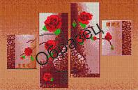 """Схема для вышивки бисером """"Розы и кофе"""""""