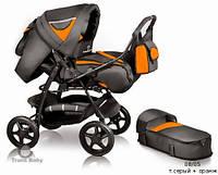 Универсальная коляска-трансформер Trans Baby Яся (08/05) т.серый+оранжевый б/к