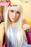 Женский парик блонд, Леди Гага, блондинка, длинные прямые волосы, синтетические волосы, длина - 65 см