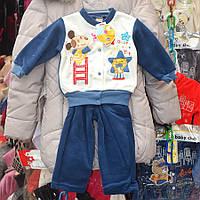 Нарядный костюмчик для мальчиков от 0.5 до 2 лет, двойка  - собачки